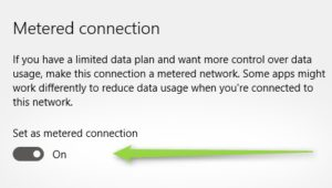 Save Data using a Metered Connection in Windows 10