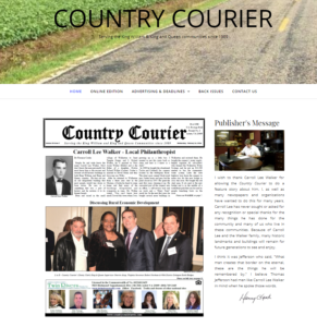 Country Courier Website 2018 by Call Armistead Computer Services